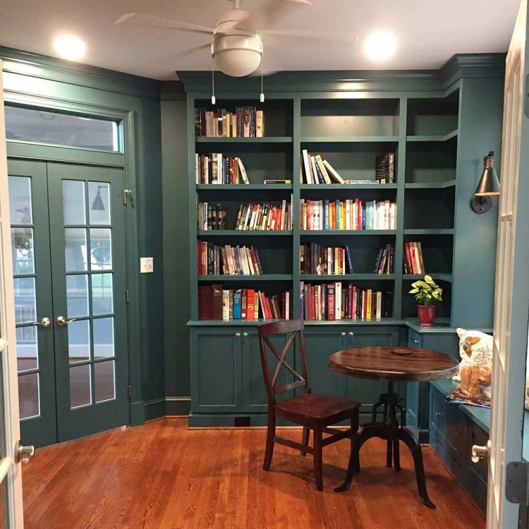 Custom bookcase in Richmond VA