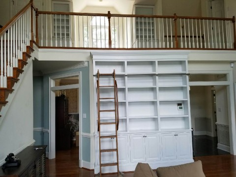 Birkdale Twickenham Bookcases with Rolling Ladder