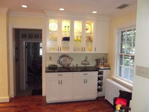 Lit glass door cabinets