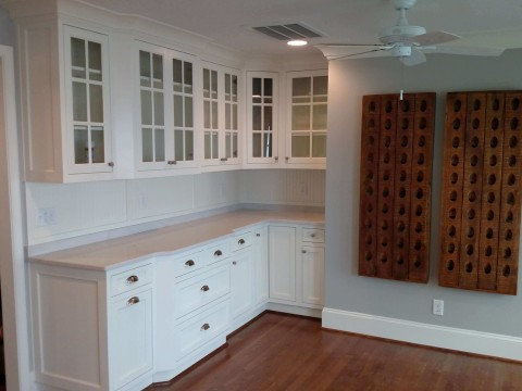 Cabinets and wine bottle holder